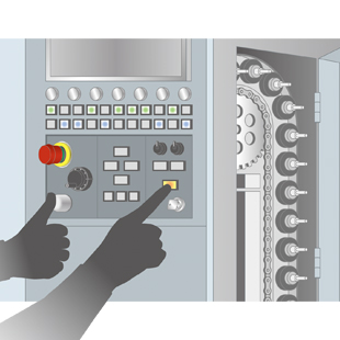 Ensure safety in machining centers with 3-position