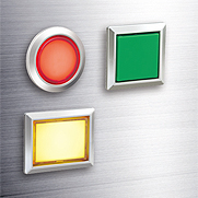 Flush Silhouette Switches LB Series Illuminated Pushbuttons