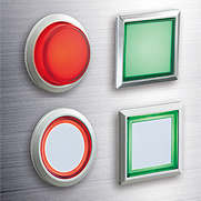 Flush Silhouette Switches LBW Series Illuminated Pushbuttons