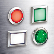 Flush Silhouette Switches LBW Series Pilot Lights