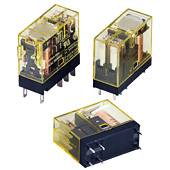 RJ Series Slim Power Relay Plug-in Terminal (bifurcated contacts)
