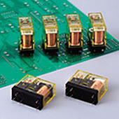 RJ Series Slim Power Relays PC Board Terminal