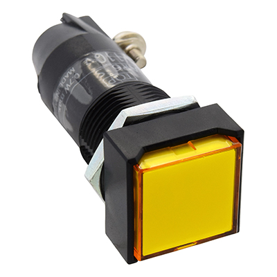 16MM AP6S Miniature Pilot Lights Square AP6QS52MPW