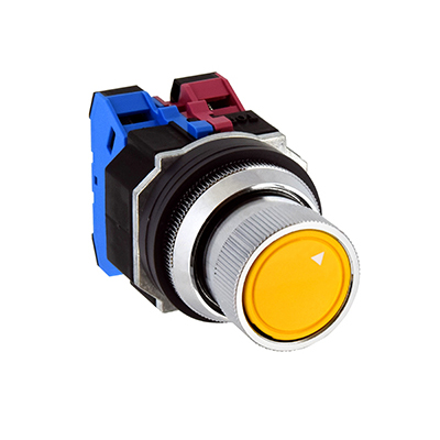 30mm TWND Series Diecast Zinc Selector Pushbutton Ring Operator 90°-2 position ASBD222N-D10Y