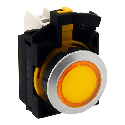 22MM Flush Silhouette CW Series Pilot Lights Round Extended CW4P-2EQHY
