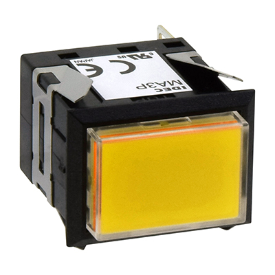 Square MA SeriesPilot Lights Rectangular One-color Full Illuminated MA3P-341Y