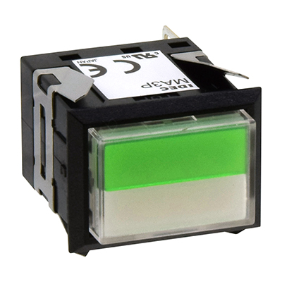Square MA SeriesPilot Lights Rectangular Long Two-way Split Illuminated MA3P-342GPW