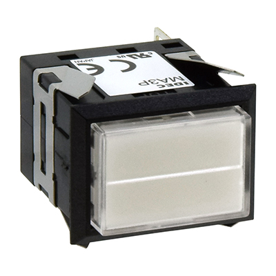 Square MA SeriesPilot Lights Rectangular Short Two-way Split Illuminated MA3P-333WW