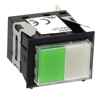 Square MA SeriesPilot Lights Rectangular Short Two-way Split Illuminated MA3P-333GW
