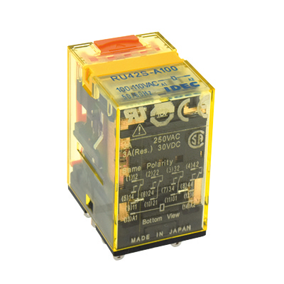 RU Series Universal Relays Bifurcated Contact Plug-in Terminal With Latching Lever 4PDT With RC (with LED Indicator) 200-220V AC RU42S-R-A200