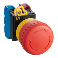 22MM YW Series Emergency Stop Switches (Removable operator) 1NO-1NC YW1B-V4E11R