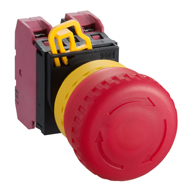 22MM YW Series Illuminated Emergency Stop Switches (Removable operator) 1NO-1NC YW1L-V4E11Q0R