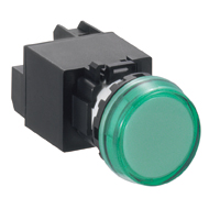 22MM YW Series Pilot Lights (with Removable Contact Block) Transformer Flush Marking LED YW1P-1BEM2G
