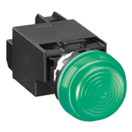 22MM YW Series Pilot Lights (with Removable Contact Block) Transformer Extended LED YW1P-2EH22A